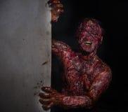Mann, der den Horror brannte Stockbilder