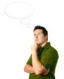 Mann in der durchdachten Haltung Lizenzfreies Stockfoto