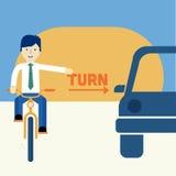 Mann, der ein Fahrrad reitet Stockfoto