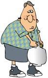 Mann, der ein Propan-Becken trägt Lizenzfreie Stockbilder