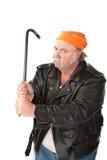 Mann, der eine Brechstange ausübt Lizenzfreies Stockfoto