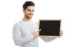 Mann, der eine Tafel hält Lizenzfreie Stockbilder