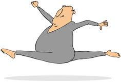 Mann, der einen Fliegensprung tut Lizenzfreie Stockfotos