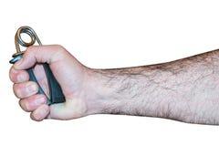 Mann, der einen Handgriff hält Lizenzfreie Stockfotografie