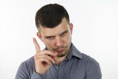 Mann, der einen Rat gibt Lizenzfreies Stockbild