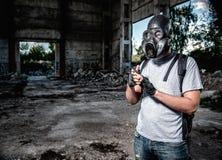 Mann in der Gasmaske Lizenzfreie Stockfotos