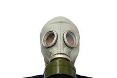 Mann in der Gasschablone Lizenzfreie Stockfotos