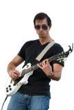 Mann, der Gitarre spielt Stockfotos
