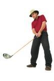 Mann, der Golf #1 spielt Stockfotos