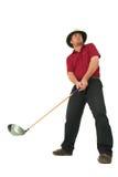 Mann, der Golf #1 spielt Lizenzfreies Stockfoto