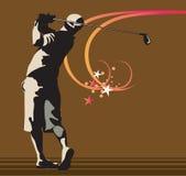 Mann, der Golf spielt Stockbilder