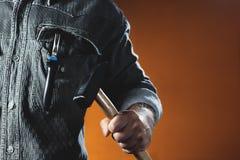 Mann, der Hammer hält Ð-¡ onstruction Arbeitskraft Lizenzfreie Stockfotos