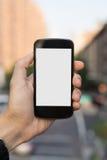 Mann, der Handy verwendet Stockfoto