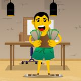 Mann, der Haushaltpläne hält oder zeigt vektor abbildung