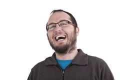 Mann, der heraus lautes lacht Lizenzfreie Stockfotos