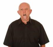 Mann, der heraus Zunge haftet Stockbilder