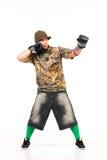 Mann in der Hip-Hop-Ausstattung Stockfotografie