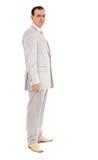 Mann in der Hochzeitsklage Stockfotos