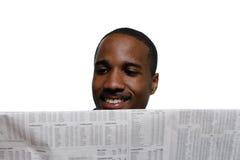 Mann, der - horizontal lächelt Lizenzfreie Stockbilder