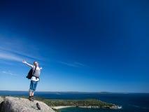 Wandern im Acadia-Nationalpark Lizenzfreie Stockfotos