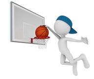 Mann, der im Basketball spielt Stockfotografie