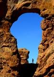 Mann, der im Bogen-Nationalpark wandert Stockfoto