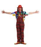 Mann in der Klage des Clowns Stockbild
