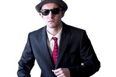 Mann der laufenden Mafia Lizenzfreies Stockfoto