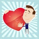 Mann in der Liebe, die ein Inneres anhält Lizenzfreie Stockfotos