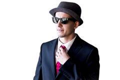 Mann der Mafia in den Sonnenbrillen Lizenzfreies Stockfoto