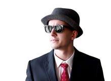 Mann der Mafia in den Sonnenbrillen Stockbild