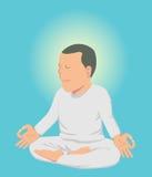 Mann, der Meditation tut Stockbild