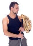 Mann, der mit der Hand auf Hüfte steht Stockbilder