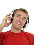 Mann, der Musik genießt Lizenzfreie Stockfotos