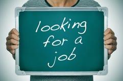 Mann, der nach einem Job sucht Stockfotos