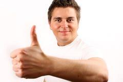 Mann, der O.K. darstellt Lizenzfreies Stockbild