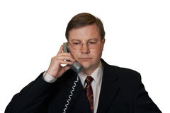 Mann, der per Telefon spricht Stockfotografie