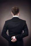 Mann, der proposa macht Stockbild