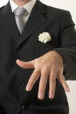Mann, der Ring - Vertikale zeigt Stockfotografie