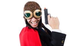 Mann, der rote Kleidung trägt Lizenzfreie Stockfotografie