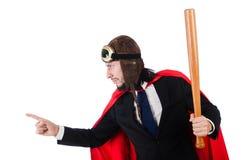 Mann, der rote Kleidung trägt Lizenzfreie Stockbilder