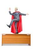 Mann in der roten Abdeckung Stockfoto