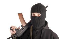 Mann in der Schablone mit Gewehr Lizenzfreies Stockfoto