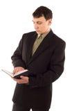 Mann in der schwarzen Klage Lizenzfreie Stockfotos