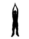 Mann, der seine Arme ausdehnt vektor abbildung