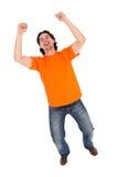 Mann, der seine Fäuste zusammenpreßt Lizenzfreie Stockbilder