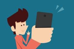 Mann, der selfie Foto macht Lizenzfreie Stockfotografie