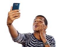 Mann, der selfie nimmt Lizenzfreies Stockbild