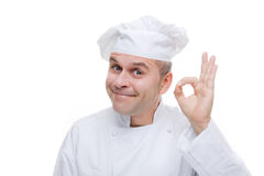 Mann in der Uniform des Chefs Lizenzfreie Stockbilder