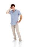 Mann, der verwirrt schaut Stockfoto